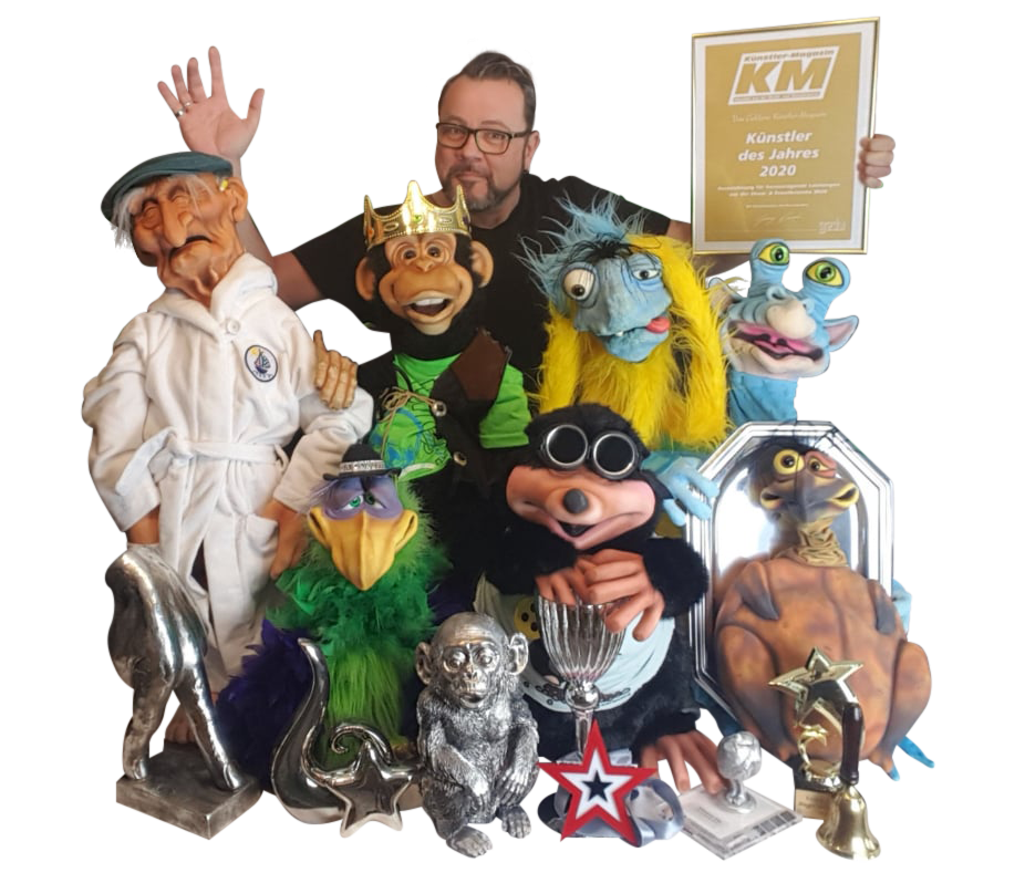 Frank und seine Puppen-Crew